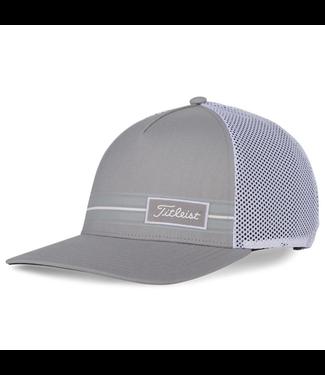 Titleist SURF STRIPE LAGUNA HAT - GRAY/WHITE