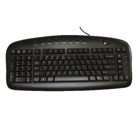 intelec-ergo EKB29B - Clavier gaucher noir USB anglais BS29B