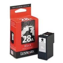 18C1528 - Cartouche à jet d'encre originale Lexmark #28A - Noire - 175 pages à 5% de couverture