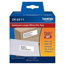 DK2211 - Ruban continu support film adhésif originale Brother - Noire/blanc - 29mm X 15.2m