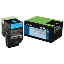 80C1HC0 - Cartouche laser originale Lexmark 80C1HC0 - Cyan - 3 000 pages à 5% de couverture de page