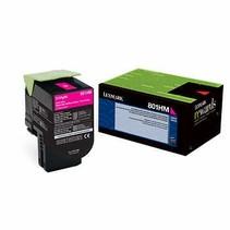 80C1HM0 - Cartouche laser originale Lexmark 80C1HM0 - Magenta - 3 000 pages à 5% de couverture de page