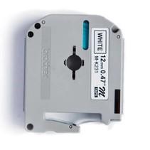 CMK-231 - Ruban compatible MK-231 - Noire/Blanc - Laminé - 12mm