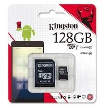 MEM-SD-KINGSTON-C10-SDR-128GB, Carte SD - Kingston 128GB
