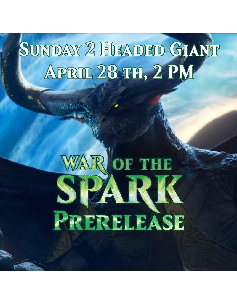 2HG War of the Spark Prerelease [Sun. April 28 @ 2 PM]