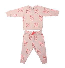 Livly Livly Pink Bunny Sweatshirt & Pants Set