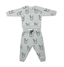 Livly Livly Blue Bunny Sweatshirt & Pants Set