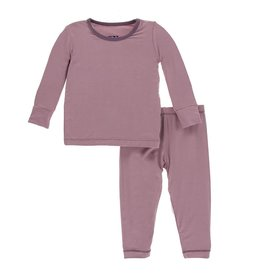 Kickee Pants KicKee Pants Elderberry/Fig Long Sleeve Pajamas Set