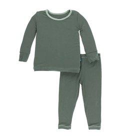 Kickee Pants KicKee Pants Succulent/Aloe Long Sleeve Pajamas Set