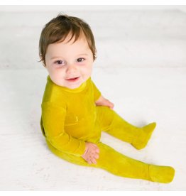 Kipp Kipp Velour Ribbed Footie