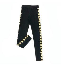So Nikki So Nikki Gold Stars Black Leggings
