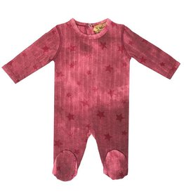 So What So What Tie Dye Burgundy Footie