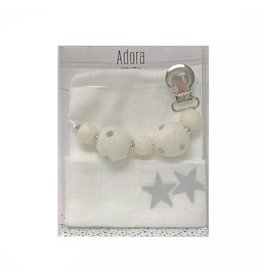 Adora Adora Silver Star Hat and Pacifier Clip Baby Gift Set