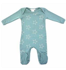 Coton PomPom Coton PomPom Silver Stars Blue Footie