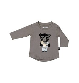 Huxbaby Huxbaby Spade Bear Stone Long Sleeve Top