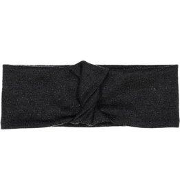 becca + bella becca and bella Lurex Knit French Twist Turban (Black)
