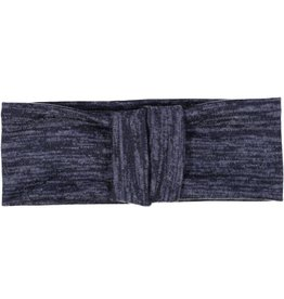 becca + bella becca and bella Heathered Knit Double Knot Turban (Navy)