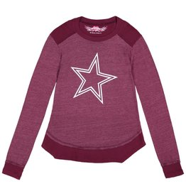 So Nikki So Nikki Large White Star Cranberry Shirt