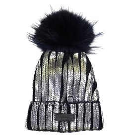 Maniere Maniere Foil Stamped Ribbed Hat