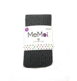 Memoi Memoi Ribbed Lurex Cotton Tights - MKF-4005
