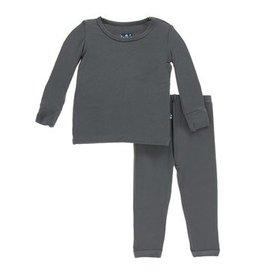 Kickee Pants Kickee Pants Stone Solid Long Sleeve Pajamas Set