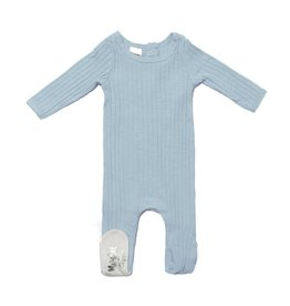 Maniere Maniere Fine Cotton Ribbed Footie