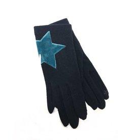 Vincent Pradier Vincent Pradier Navy Gloves w/ Suede Star