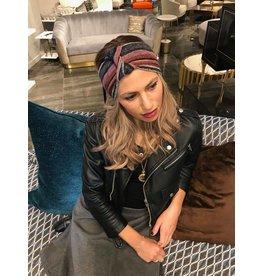 becca + bella becca and bella Topaz Knit French Twist Turban (Berry)