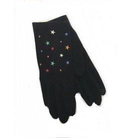 Vincent Pradier Vincent Pradier Black Gloves w/ Stars