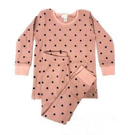 Tugg Tugg Velvet Dot Blush Pajamas