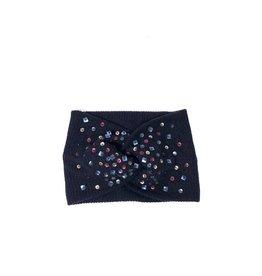 becca + bella becca + bella ribbed knit multicolor sequin turban