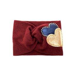 becca + bella becca + bella flat knit  heart stud turban