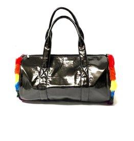 Bari Lynn Bari Lynn Duffle Bag with Assortment of Fur
