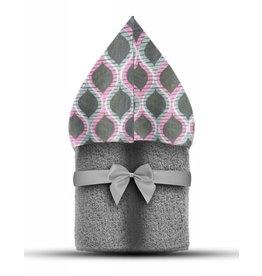 Winx + Blinx Winx + Blinx Pink Wave Grey Hooded Towel