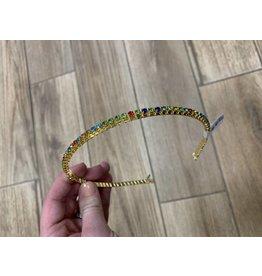 Hettie Hettie Crystal Rainbow Crown Headband