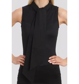 Skinny Shirt Skinny Shirt Black Sleeveless w/ Bow Tie - CSCOT500