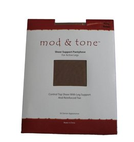 Mod & Tone Mod & Tone Sheer Support 30D CT Reinforced Toe Pantyhose - 3020