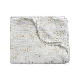 Winx + Blinx Winx + Blinx Gold Stars White Swaddling Blanket