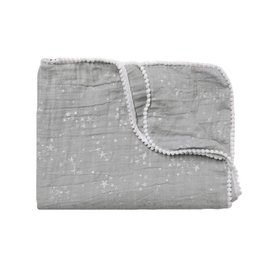 Winx + Blinx Winx + Blinx Silver Stars Grey Swaddling Blanket