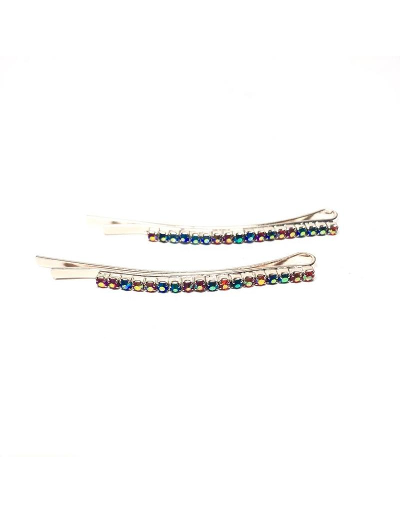 Nolabel Nolabel Small Silver Rhinestone Hair Pin