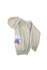 So Nikki So Nikki Girls Fleece Zip Hoodie With Star and Stripe