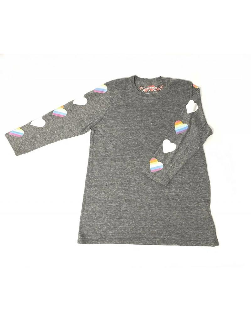 So Nikki So Nikki Kids 3/4 Sleeve Tee With Rainbow Hearts on Sleeve