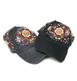 becca + bella becca + bella Denim Flower Baseball Cap
