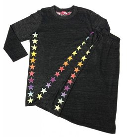 So Nikki So Nikki Kids Rainbow Stars Vintage Skirt Charcoal