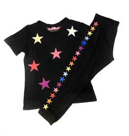 ed1a92ee9cb So Nikki So Nikki Kids Rainbow Stars Crew Neck Tee Black