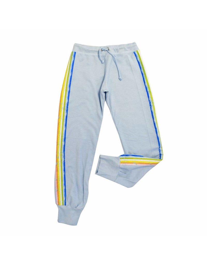 So Nikki So Nikki Multicolored Stripes Blue Sweat Pants