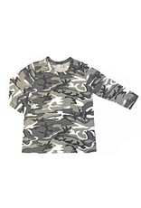 So Nikki So Nikki 3/4 Sleeve White Camo Shirt