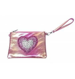 Bari Lynn Bari Lynn Crossbody Crystallized Rainbow heart bag