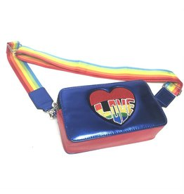 Bari Lynn Bari Lynn Rainbow Love Camera Bag