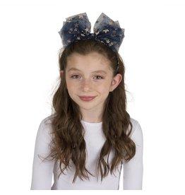 DaCee Dacee Metallic Stars tulle bow headband